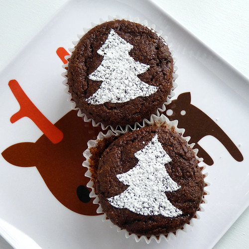 Buckwheat Chocolate-Almond Cupcakes