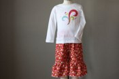 Love Birds embellished top & Ruffled Crops - 24m  **Celebrating 2011 with $0.11 shipping**