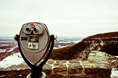 viewfinder (@clp) Tags: statepark park old blue trees winter sky snow mountains cold ice look metal clouds photoshop landscape nationalpark eyes stones sony hills upstatenewyork solitary barren isolated viewfinder lightroom altamont 518 thacherpark sonynex3