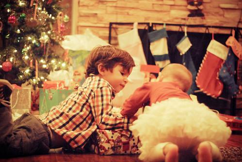 Jugando con los regalos
