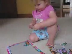 Puzzled (doodler.) Tags: 2 fun kid child dora puzzle learning frustration clever