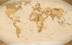 World Map Parchment wallpaper (1920x1200 by GuySie, on Flickr