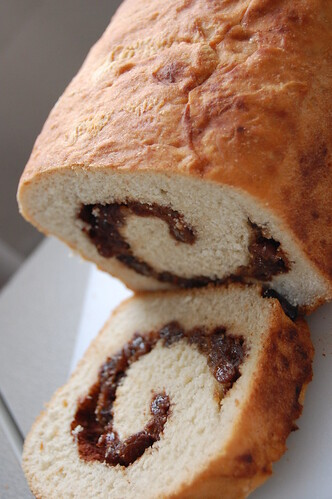 Homemade Cinnamon Raisin Bread, sliced