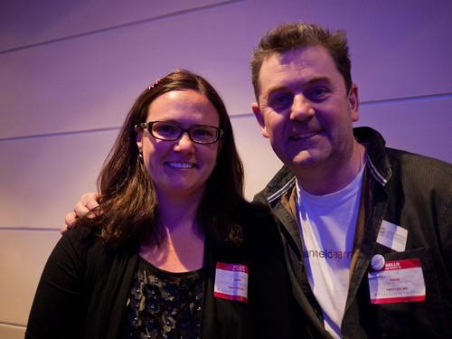 Do we look like #edupunks? Me (@gravesle) and @timbuckteeth (aka Steve Wheeler)