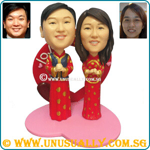 Custom Traditional Chinese Wedding Couple Figurines