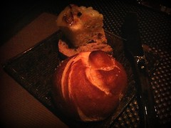 Breads - Pretzel, Onion, Olive Focaccia. Wolfgang Puck's Cut, Marina Bay Sands, Singapore