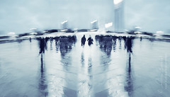 iterations on a crowd () Tags: street blur paris andy rain umbrella movement strada action andrea andrew movimento pioggia ombrello parigi sfocato azione benedetti d7000