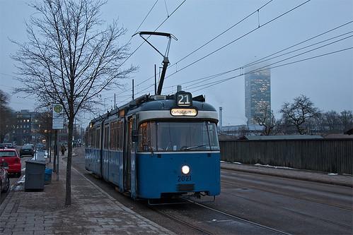 Noch ist Licht da: Solo-P-Wagen 2021 am Westfriedhof