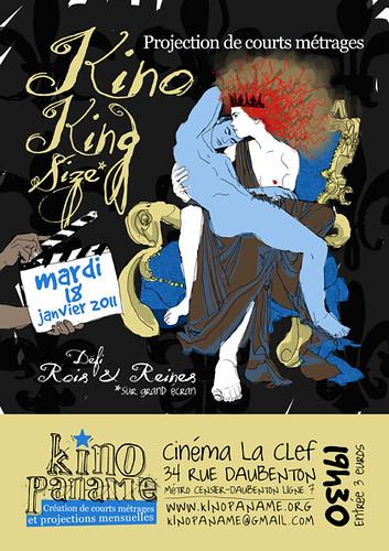 Flyer de projection du mardi 18 janvier 2011 au Cinéma La Clef