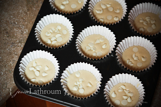 White Chip Cupcakes