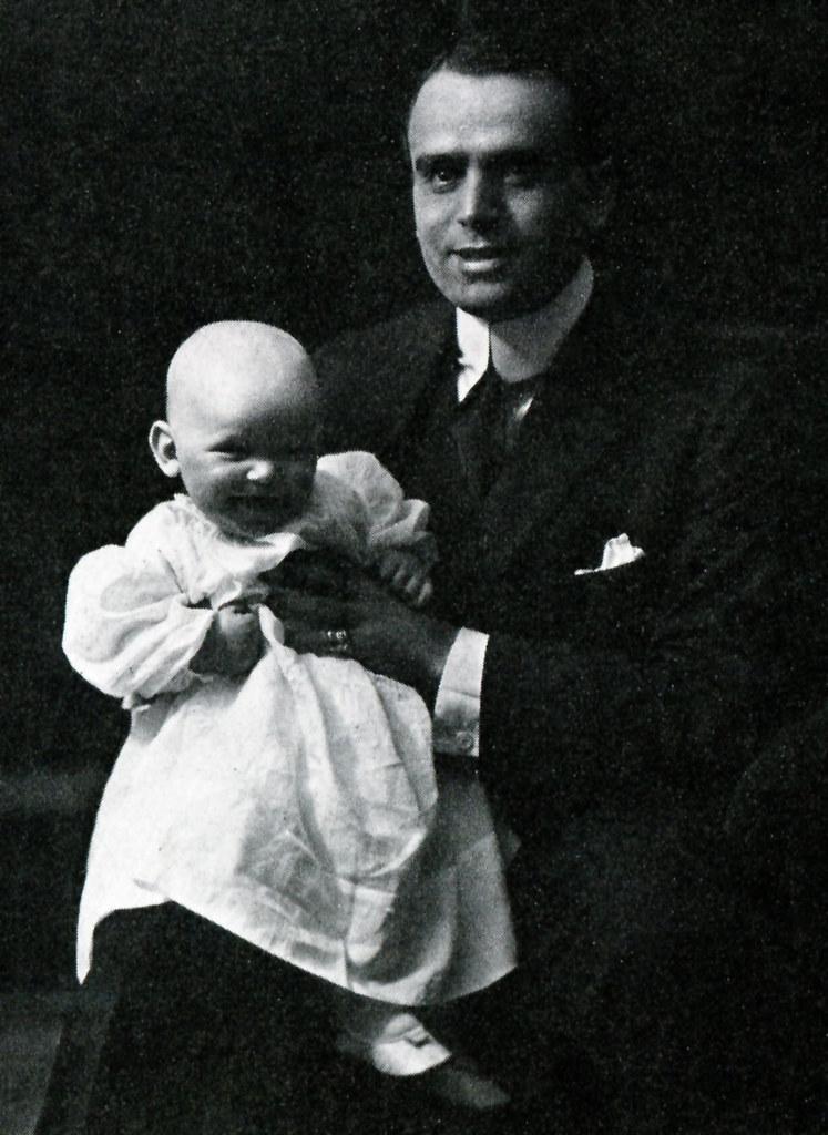 Douglas Fairbanks and son Douglas Fairbanks Jr.