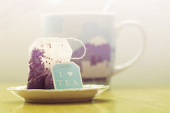 Tea Time (~ Maria ~) Tags: light cup dof tea teacup teabag earlgrey ilovetea theshutterdivas