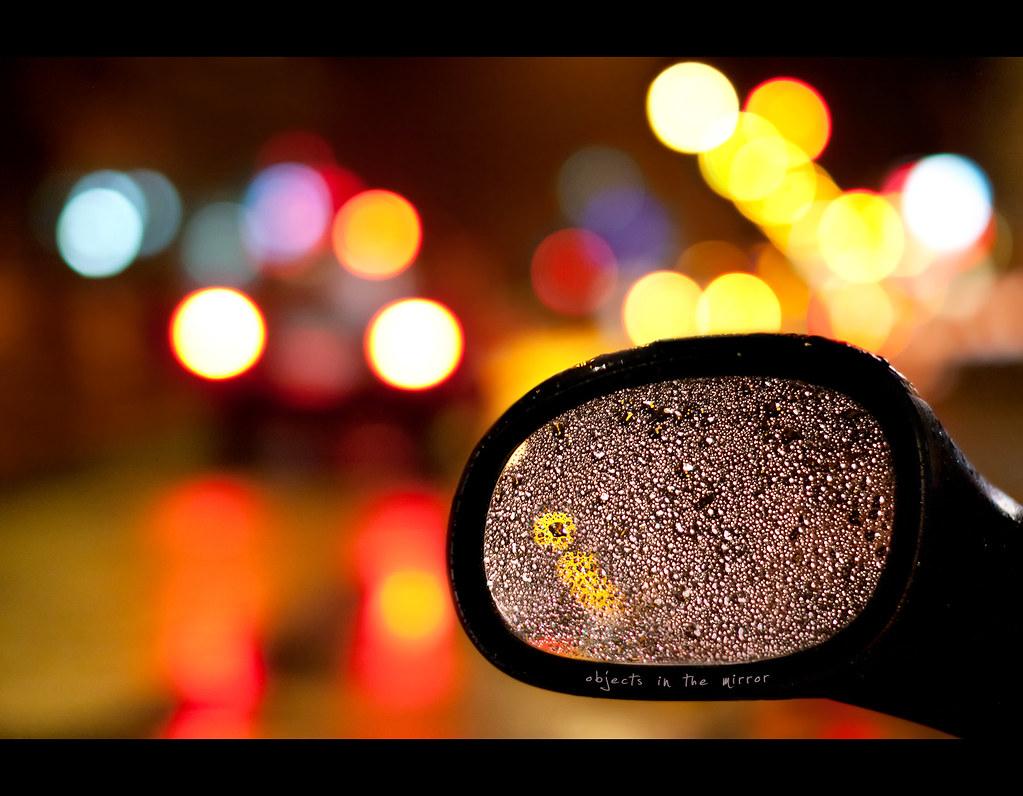 Day 161, 161/365, Project 365, Bokeh, Mirror, car mirror, back mirror, 50mm, colours, Sigma 50mm F1.4 EX DG HSM, reflection, ourdailychallenge, on wheels, rain, wet, drops, drop, bokeh bubbles,