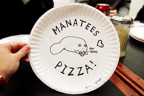 I drew a manatee