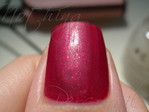 China Glaze Ruby Pumps & Matte Magic