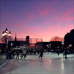 Sunset Plaza ~ Paris ~ MjYj (MjYj) Tags: plaza sunset paris ice img8936 mjyj mjyj
