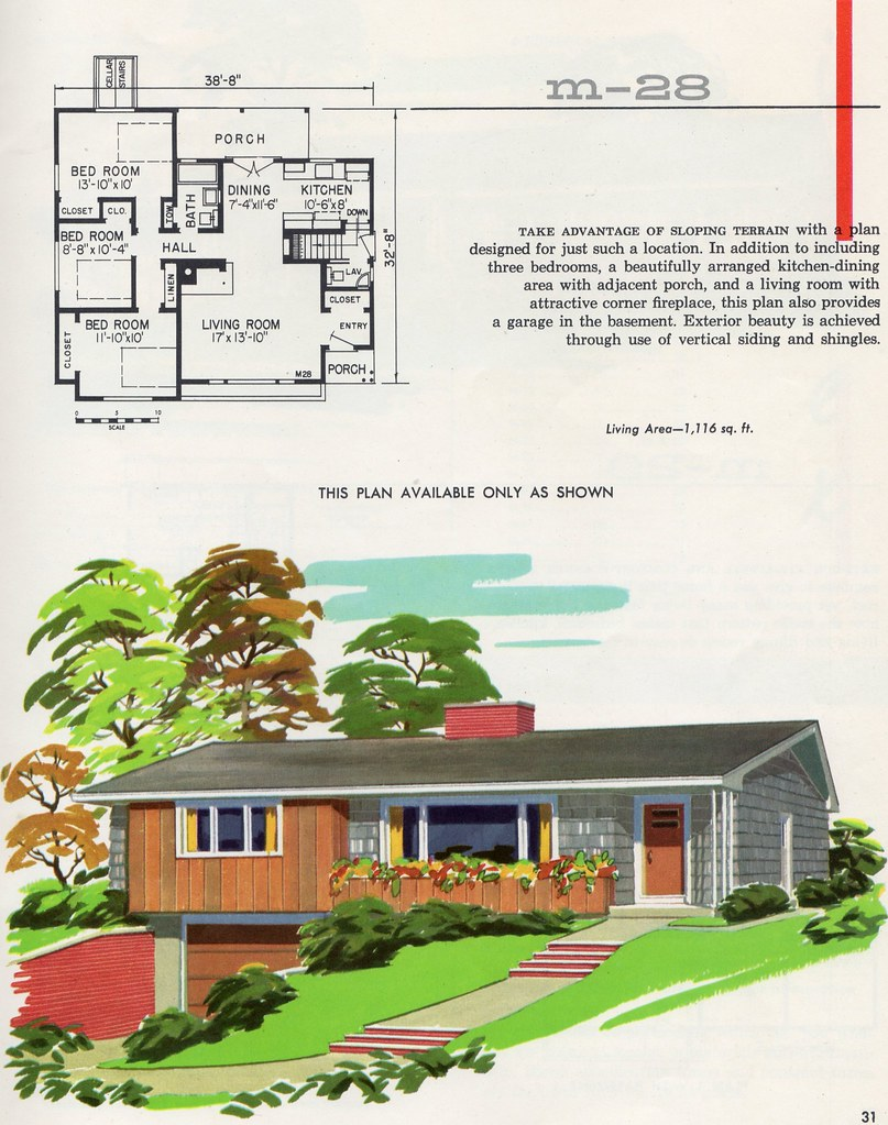 The world 39 s best photos of houseplan and for 1950s house plans