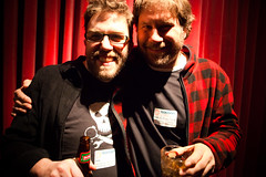 Dave Olson with filmmaker Andrew Lavinge - photo by Kris Krug