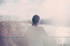 (Aleksey Zotov) Tags: sea woman film beach girl nikon fuji photographer superia cyprus 200 zenit brunette f80 44 aleksey zenith helios limassol bluedress proplus     zotov    stereophotocom httpstereophotocom