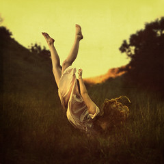 an alternate route (brookeshaden) Tags: field flying sleep floating levitation falling nightgown brookeshaden texturebylesbrumes