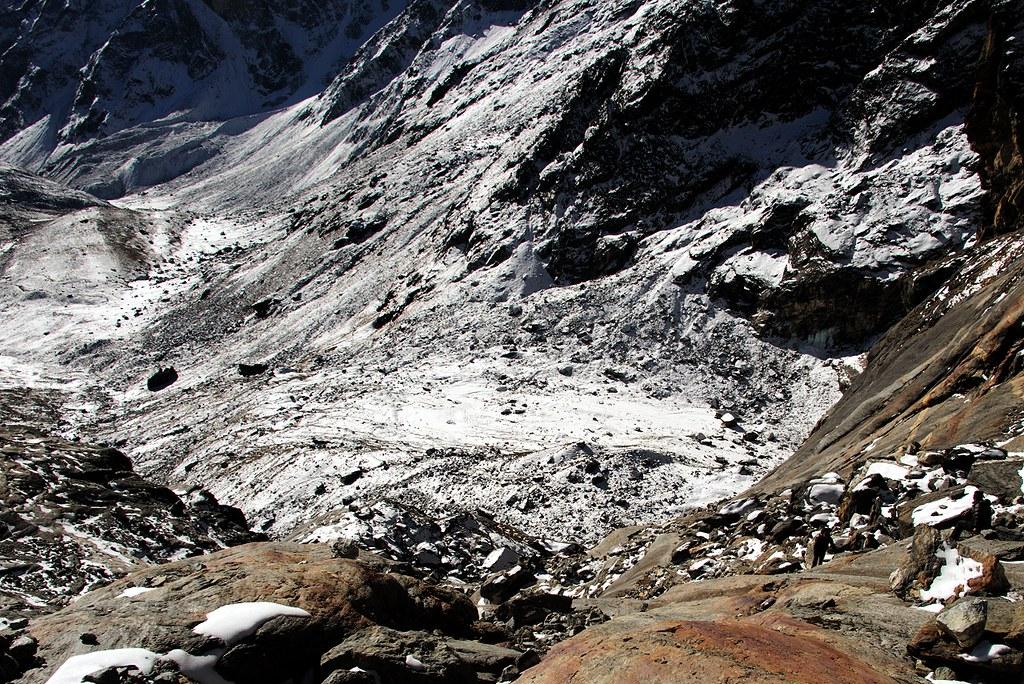 Climbing Cho La pass