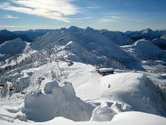 Die Gartnerkofel-Bergstation von der FIS aus gesehen
