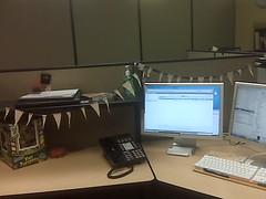 Desk w. Bunting
