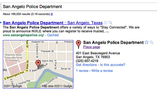 Google Maps Police Bug