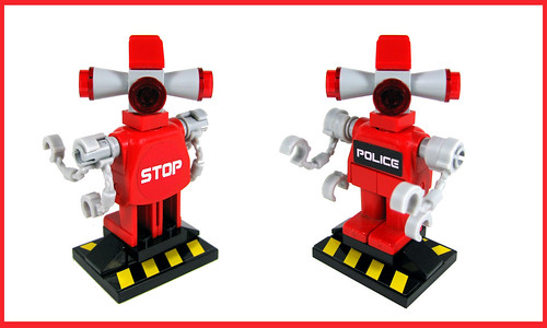 Custom minifig Crowd Control Police-Bot