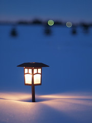 beacon (katachthonios) Tags: light snow lamp bokeh f14 hexanon becon 57mm