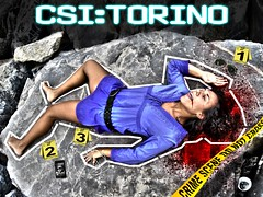 CSI:TORINO CRIME SCENE (Brizius) Tags: girl sunglasses photoshop torino death blood nikon ipod cross crime killer murder scena policeline hdr murdered crimescene earphones csi rayban assassin iphone assassino crimine omicidio d3100 brizius