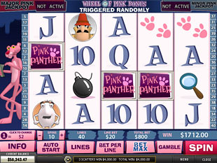 free Pink Panther slot scatters