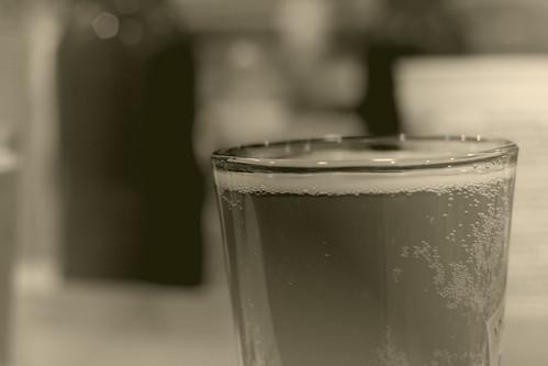 tall glass of homebrew