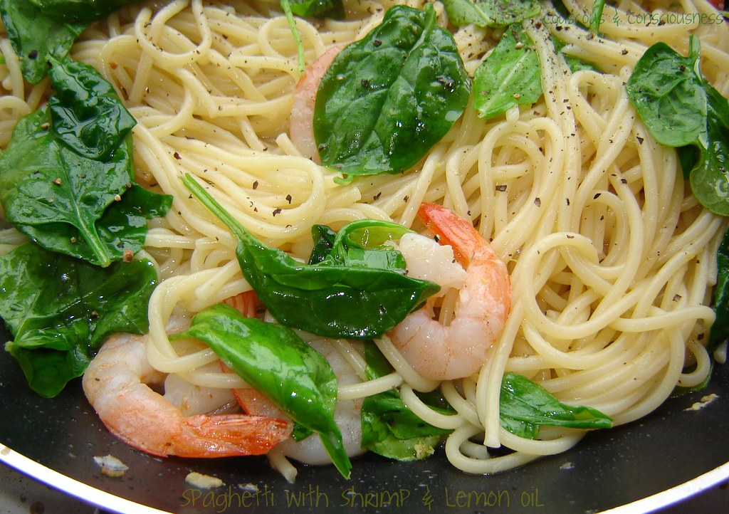 Spaghetti with Shrimp & Lemon Oil 2