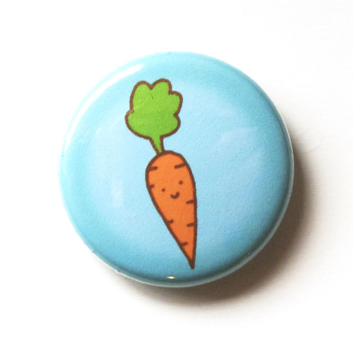 Cute Carrot - Button 01.23.11