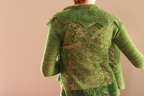 lace jacket back