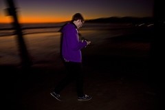 Walkin' Along (Christopher Park) Tags: park santa wood chris sunset beach birds wheel silhouette night kyle lights pier flying sand long exposure daniel horizon tripod under ferris monica nima bigman meisel karamati