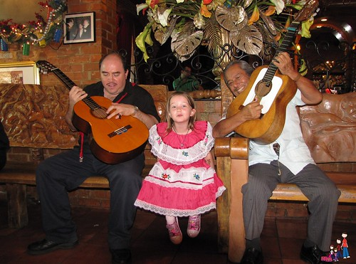 Caelan and the Mariachi at Mi Tierra in San Antonio