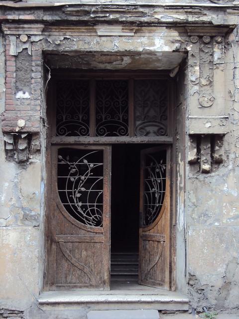Tbilisi art nouveau door