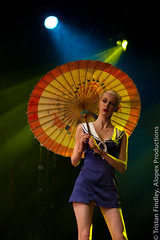 Out of the sun (Tristan Findley) Tags: england person clothing europe fifties unitedkingdom stage performance eu surrey event gb su 50s stageshow persons fashionshow period egham rhul studentsunion commissioned stagelighting royalhollowayuniversity permforming