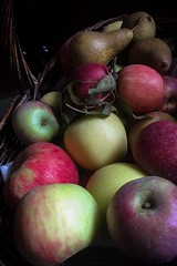 (265/366) Basket of Apples and Three Pears (CarusoPhoto) Tags: apple apples pear pears basket harvest fruit john caruso carusophoto photo day project 365 366 iphone 6 plus