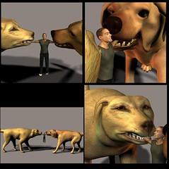 Tugging_by_Diego_kawasaka (diegokawasaka) Tags: horse dog macro giant paw wolf tiger lion diego human tiny micro gore stomp crunch anthro vore kawasaka