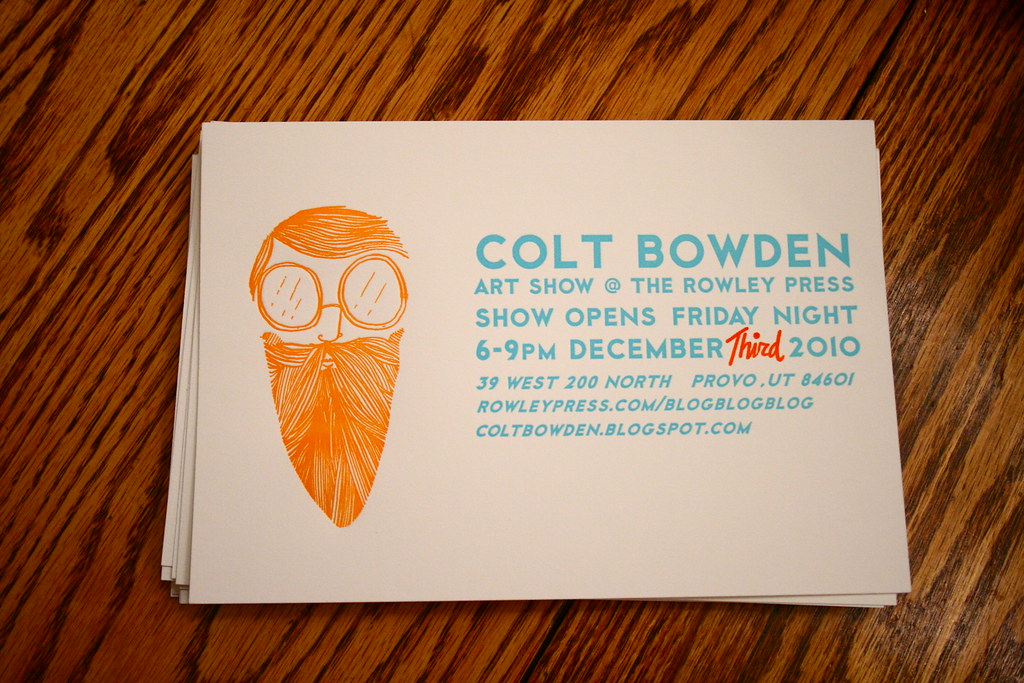 Art Show Invite Card