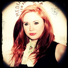 Happy Birthday, Karen Gillan (Amy Pond) of #DoctorWho (Note: Although I shot some iPhone photos of Karen, this one is from my DSLR in April with the post processing effects done now on the iPhone).