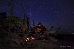 Home on the Range (Ben Canales) Tags: camping night oregon dark stars outdoors star twilight cowboy ben dusk hiking trail backpacking cascades hiker starry canales thestartrail