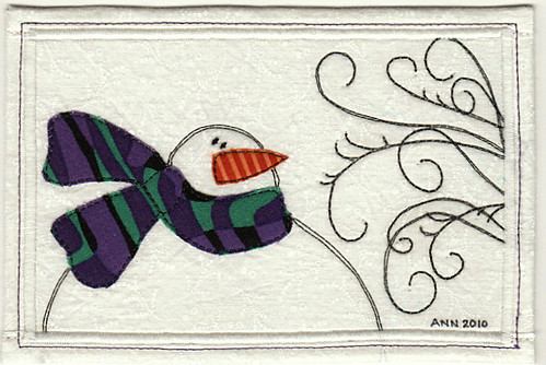 Brrr ~ Fabric Postcard