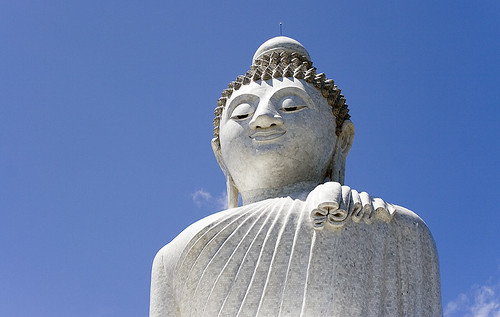 Buddha with Blue Sky