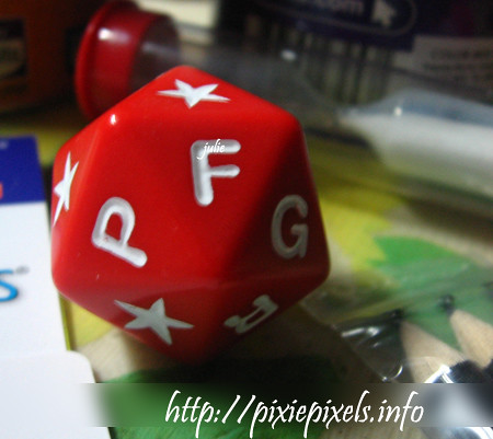 November 29: Scattergories dice
