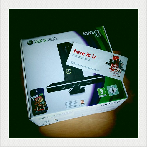 We Won! We Won! Xbox 4GB & Kinect Bundle!