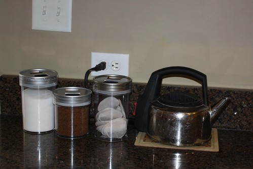After: containers for sugar, coffee & tea